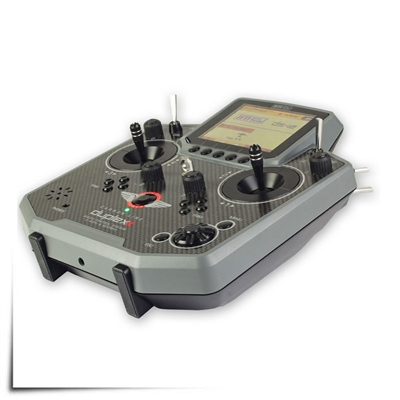 Jeti Duplex DS-12 Carbon Gray Basic Special Edition 2.4GHz/900MHz w/Rx R5L, Aluminum Tx Case Radio System (Due Mid May)