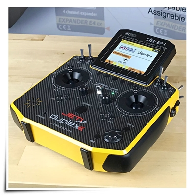 Jeti Duplex DS-24 Carbon Sunburst Yellow 2.4GHz/900MHz w/Telemetry Transmitter Jeti USA Limited Edition Radio