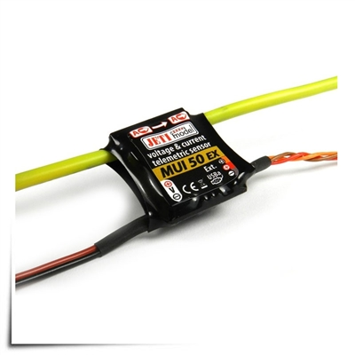 Jeti Telemetry Sensor Current/Voltage 50A MUI ex