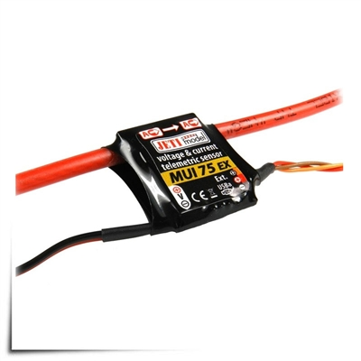 Jeti Telemetry Sensor Current/Voltage 75A MUI ex
