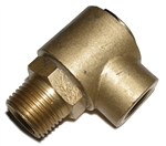 "3/8"" MPT x 3/8"" FPT 90 Degree 4000psi Brass Hose Swivel"