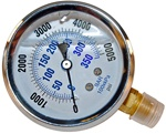 STAINLESS STEEL LIQUID FILLED GAUGE