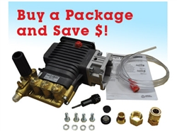 AR RSV3G30D-F25EZ Triplex Pressure Washer Pump Package