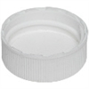 Cap - Plastic - Ribbed Half Depth - White - 28/410
