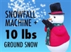 Snowfall Machine plus 10 lbs Instant Snow