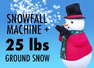 Snowfall Machine plus 25 lbs Instant Snow