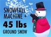 Snowfall Machine plus 50 lbs Instant Snow