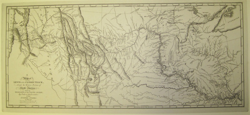 Map Of America Lewis And Clark.1814 Printed Map Of Lewis And Clark