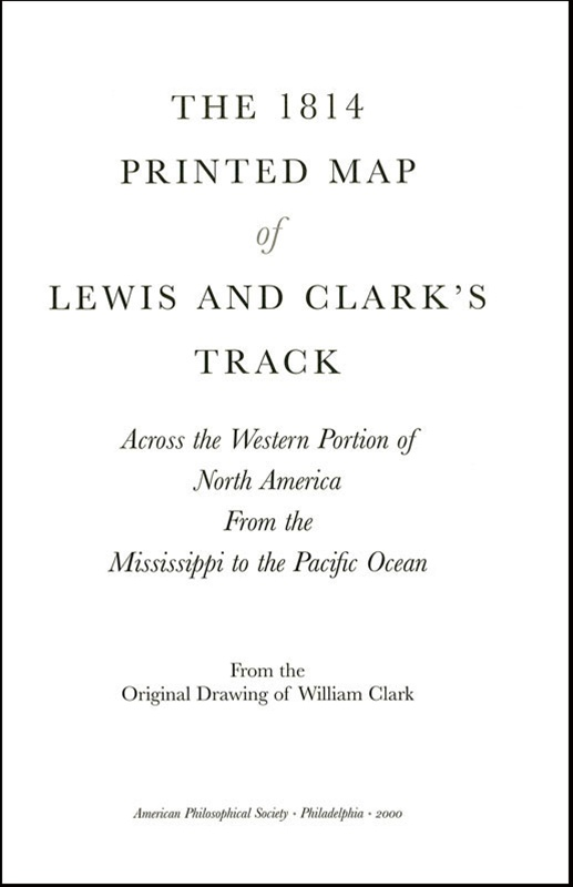 Map of Lewis and Clark track Mississippi to Pacific Ocean c1804 24x12
