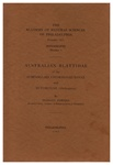 Australian Blattidae of the Subfamilies Chorisoneurinae and Ectobiinae (Orthoptera): Monographs of The Academy of Natural Sciences of Philadelphia, No. 4