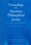 Proceedings, American Philosophical Society (Vol. 159, No. 1)