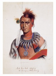 Mah-has-kah, Chief of the Ioways—(White Cloud) (1830)