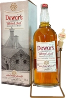 Dewar's White Label 4.5LT bottle with cradle and box