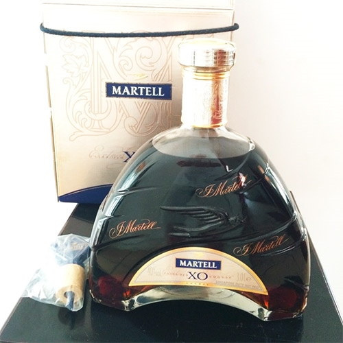 Martell X.O. 3 LT bottle with box