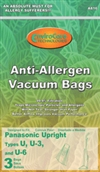 Panasonic Allergen Bag U3 U6 3 Pack