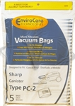 Sharp Canister Paper Bag PC-2 Micro Filtration 5 Pack Envirocare