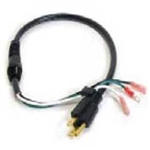 "Sandia 10-0026-A Complete 17"" Powercord - Raven (Pigtail, Strain Relief, Nut & Wire Connectors)"