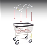 R&B Wire Laundry Cart Child Basket Inhibitor