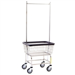 Narrow Laundry Cart w/ Double Pole Rack, # 100D58