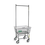 R&B Wire Antimicrobial Laundry Cart w/ Double Pole Rack # 100E58/ANTI