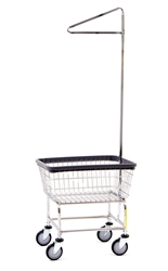 Standard Laundry Cart w/ Single Pole Rack, # 100E91