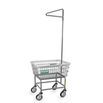 R&B Wire Antimicrobial Laundry Cart w/ Single Pole Rack # 100E91/ANTI