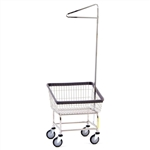 Front Load  Laundry Cart w/Single Pole Rack, # 100T91