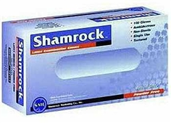 Shamrock 10000 Series Latex Disposable Gloves, Powder-Free, Textured, Medium (10 boxes of 100)