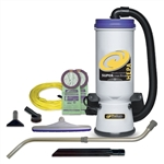 Proteam Super CoachVac HEPA Backpack Vacuum 107119 w/ Tool Kit D