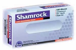 Shamrock 11000 Series Latex Disposable Gloves, Lightly-Powdered, Smooth, Large (10 boxes of 100)