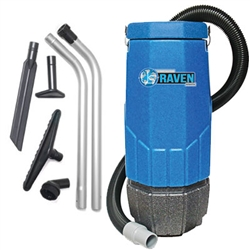Sandia 230 Volt Raven 10-Quart Backpack Vacuum w/ 5 pc. Standard Tool Kit - 1340 watts, 150 CFM, 1.5 HP, 1-Stage Motor , 20-4001