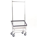 Large Capacity Front Load Laundry Cart w/ Double Pole R