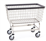 "R&B Wire Large Capacity 6 Bushel ""Big Dog"" Laundry Cart # 201H/D7"