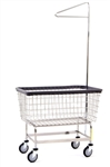 "R&B Wire Large Capacity 6 Bu. ""Big Dog"" Laundry Cart w/ Single Pole Rack*"