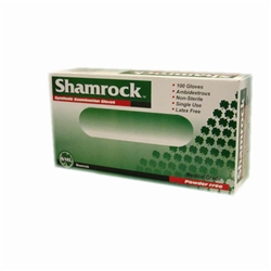 Shamrock 20000 Series Vinyl Disposable Gloves, Clear, Powder-Free, Smooth, Medium (10 boxes of 100)