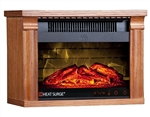 Heat Surge Mini Glo Widescreen Fireplace Heater plus Touch Screen, Dark Oak #30000930