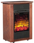 Heat Surge Power Tower Touch Screen All Season Electric Fireplace w/Fan, Remote, & 3/pk of Filters Dark Oak, #30000935