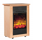 Heat Surge Power Tower Touch Screen All Season Electric Fireplace w/Fan, Remote, & 3/pk of Filters Golden Oak, #30000936