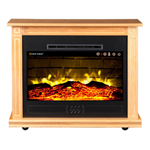 Heat Surge Roll-n-Glow Touch Screen Fireplace w/Filter 3/pk, Fan, and Remote, Golden Oak #30000938