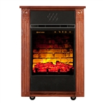 Heat Surge Power Tower Touch Screen All Season Electric Fireplace w/Fan and Remote, Dark Oak, #30000950