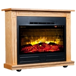 Heat Surge Roll-n-Glow Touch Screen All Seasons Electric Fireplace with Remote, Golden Oak