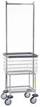 R&B Wire Deluxe Elevated Laundry Cart w/ Double Pole Rack, #300G55/D7