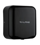 Alpine 400-10 110V Hemlock High Speed 10 second Automatic Sensor Commercial Hand Dryer, Surface Mount-Black