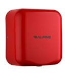 Alpine 400-10-RED 110V Hemlock High Speed 10 second Automatic Sensor Commercial Hand Dryer, Surface Mount-Red