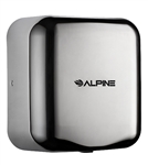 Alpine 400-10-SSB 110V Hemlock High Speed 10 second Automatic Sensor Commercial Hand Dryer, Surface Mount