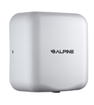 Alpine 400-10-WHI 110V Hemlock High Speed 10 second Automatic Sensor Commercial Hand Dryer, Surface Mount-White