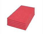 "Mercury Red Rectangular Floor Buffing & Spacer Filler Pads 12"" x 18"" (Individual), #40441218, for DS-18 Dry Scrub Floor Machine"
