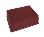 "Mercury Maroon Stripping Pads 12"" x 18"", #42071218 for Mercury DS-18 Dry Scrub Floor Machine (10 per Case)"
