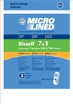 Bissell Paper Bag Style 1 Micro Lined 3 pack DVC Replacement