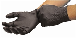 Volk Clean Hand Nitrile General Purpose Black Disposable Gloves, Rolled-Cuff, Powder-Free, Large (10 boxes of 100) 60009-L